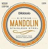 D'Addario ダダリオ マンドリン弦 ステンレス Medium .011-.040 EJS74 【国内正規品】