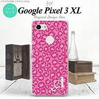 Google Pixel 3 XL スマホケース カバー ヒョウ柄 ピンク 【対応機種:Google Pixel 3 XL】【アルファベット [E]】