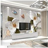 山笑の美 カスタム3d壁紙ヨーロッパの大きなソファーソファテレビの背景リビングルームの寝室の壁の装飾-200X150CM