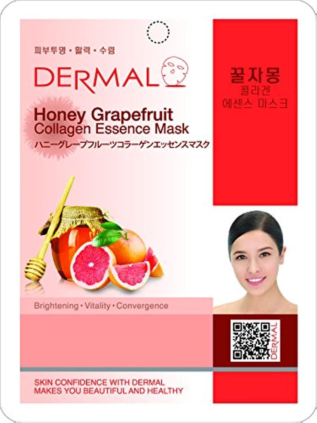 かける知る間違いハニーグレープフルーツシートマスク(フェイスパック) 10枚セット ダーマル(Dermal)