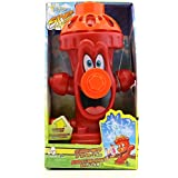 (Red) - Kids Sprinkler Fire Hydrant, Attach Water Sprinkler for Kids to Garden Hose for Backyard Fun, Splash All Summer Long, Sprays Up to 2.4m(Red)