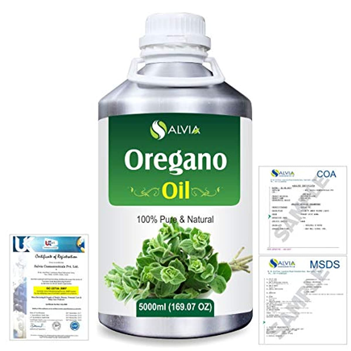 車両スローガン来てOregano (Origanum vulgare) 100% Natural Pure Essential Oil 5000ml/169fl.oz.