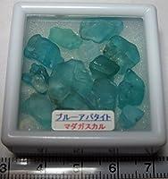 マダガスカルのブルーアパタイト原石/ラフ研磨済 no1