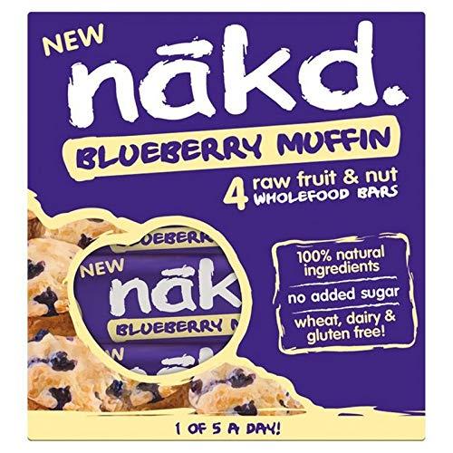[Nakd] Nakdブルーベリーマフィンマルチパック4×35グラム - Nakd Blueberry Muffin Multipack 4 x 35g [並行輸入品]