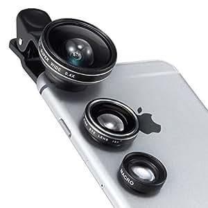 TaoTronics カメラレンズキット クリップ式 スマホレンズ 3点セット(魚眼、マクロ、0.4倍広角レンズ) スマートフォン タブレット TT-SH014