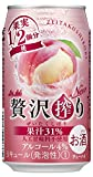 贅沢搾り 桃 350ml ×24缶
