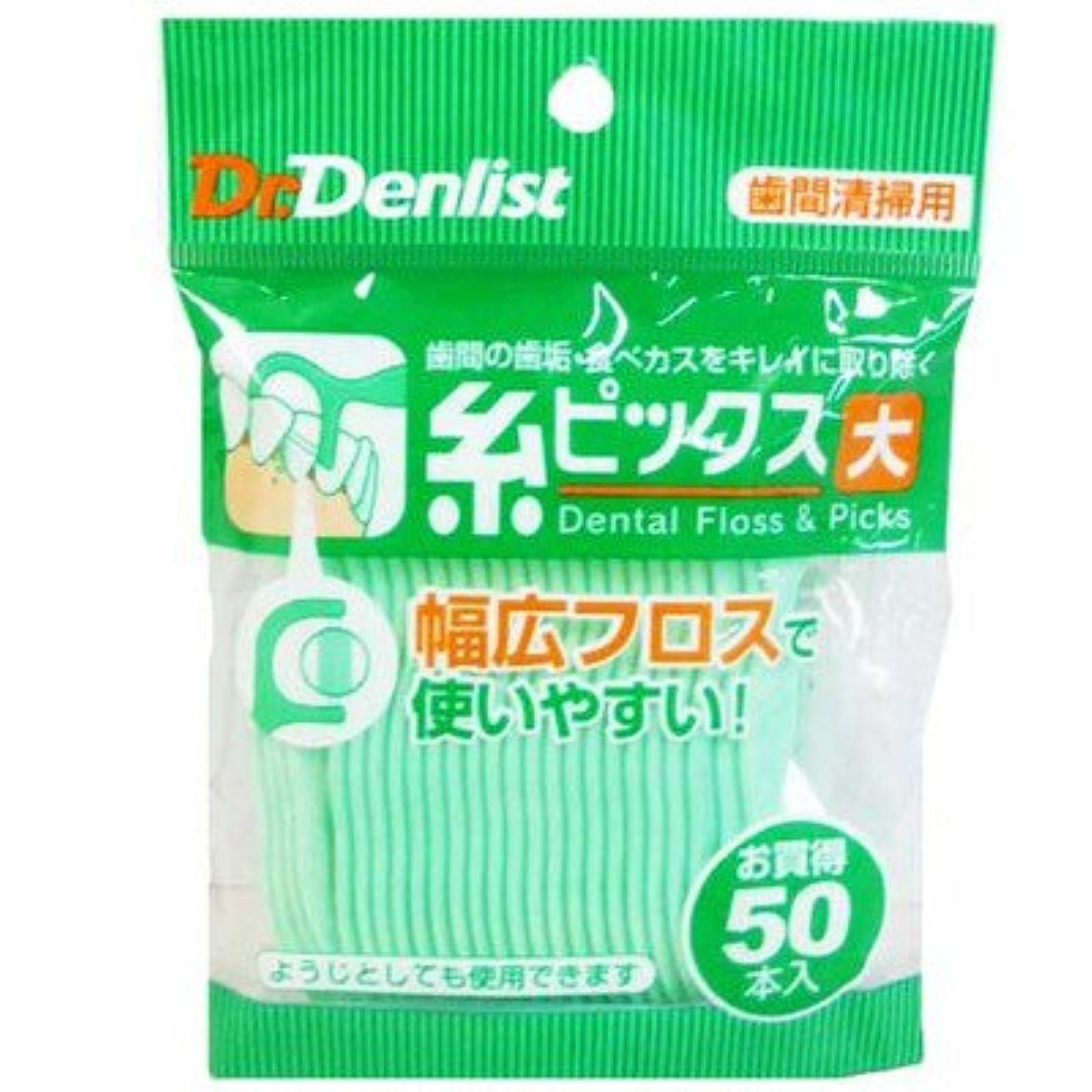 タクト相談円形Dr.デンリスト 糸ピックス大 50本入 (クリエイト)