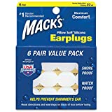 Macks Pillow Soft シリコン耳栓 6ペア NRR22 #...