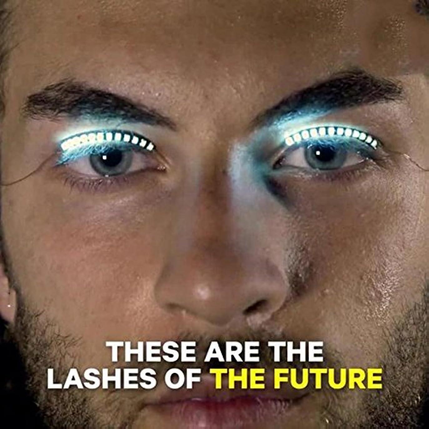 アクティビティ笑アーサーHongch 2PCSつけまつげは、ルミナスのLED 毎日のためのファッションのプロフェッショナル 防水輝きます メイクアップツール