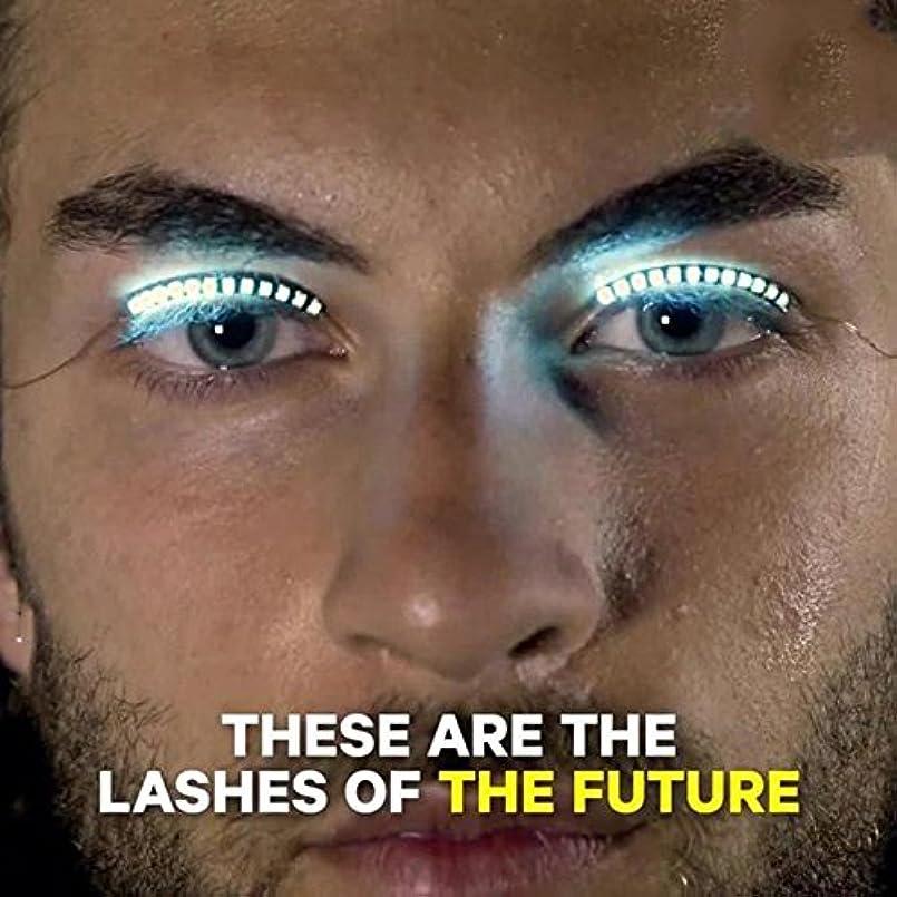 洗練された韻歯Hongch 2PCSつけまつげは、ルミナスのLED 毎日のためのファッションのプロフェッショナル 防水輝きます メイクアップツール
