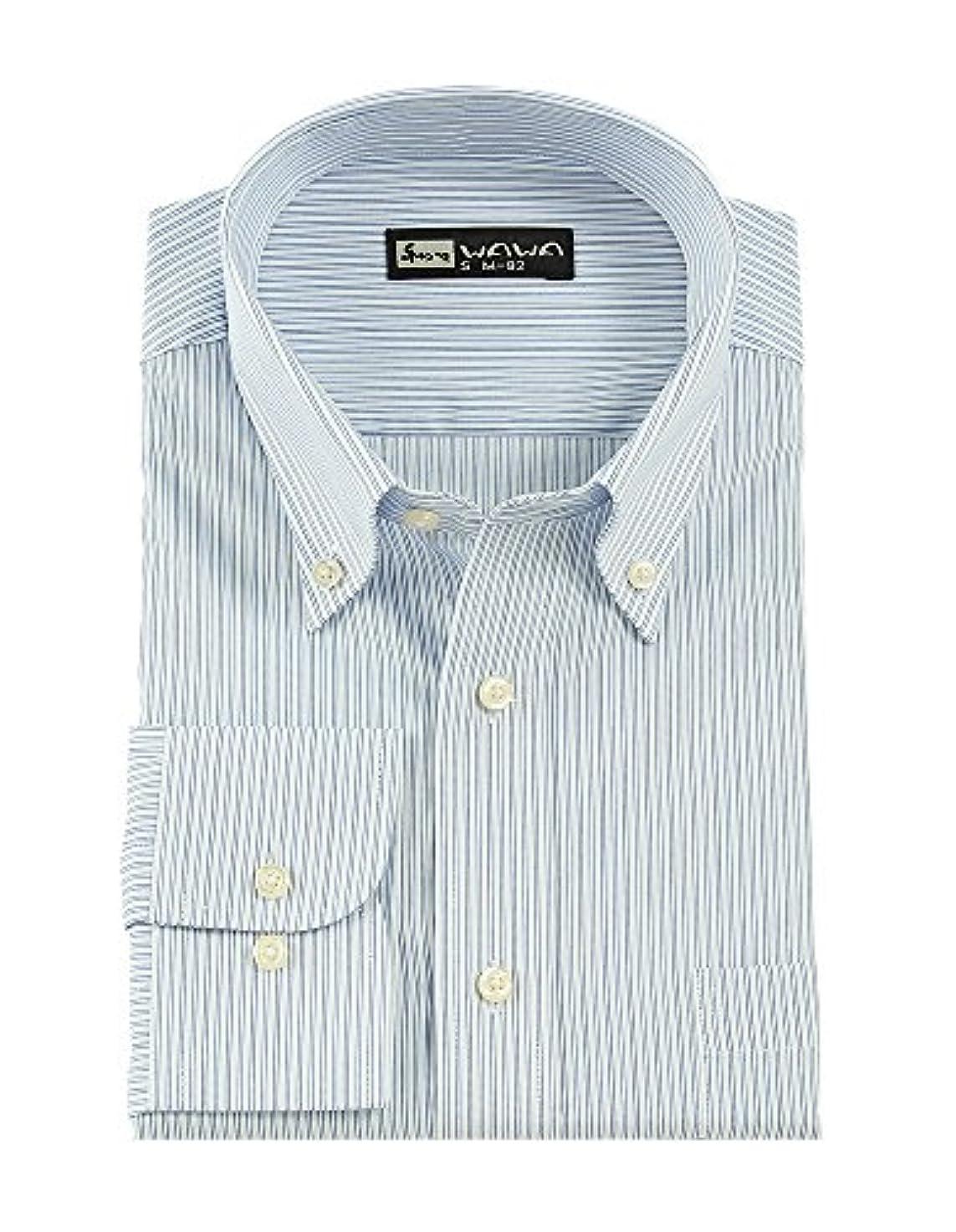 敬意立派な扇動(ワワジャパン)WAWAJAPAN 12種類から選べる綿100%メンズワイシャツ Cシリーズ (M82(ジャパンフィット), C-705)