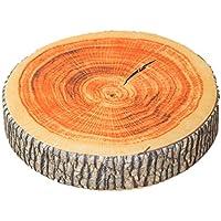 インテリア として最適 リアル 樹木 切り株 クッション 丸太 輪切り 座布団 (厚 7cm)