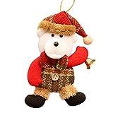 (ノタラス)Notalas クリスマス飾り物 クリスマスツリー 壁掛け プレゼント ギフト クリスマスイブ 贈り物 サンタクロースソックス 雪だるま かわいい インテリア クリスマス用品 人気  (クマ)