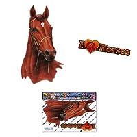 Horse Brown Animal Smallステッカーデカール車Floatsトラックキャラバン–st00052br _ SML–JASステッカー