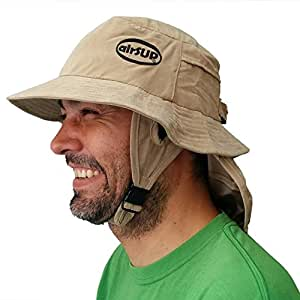 airSUP ハット SUP/SUP サーフィン Bucket Hat パドルボード用の帽子 (カーキ)