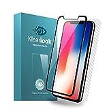 KlearLook Iphone x用 「3D湾曲まで 99%透過率」 強化ガラスフィルム フルカバー 全面保護フィルム(液晶面1枚+背面1枚 )