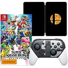 Super Smash Bros. Ultimate Game + Super Smash Bros. Ultimate SteelBook + Nintendo Switch Pro Controller Super Smash Bros. Ultimate Edition