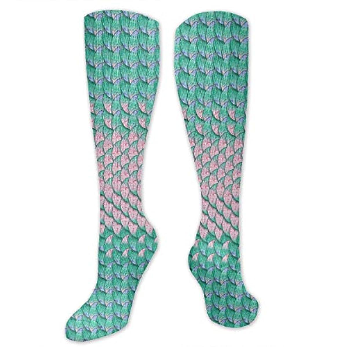 まもなくバッグ一部靴下,ストッキング,野生のジョーカー,実際,秋の本質,冬必須,サマーウェア&RBXAA Mermaid Scales Background Socks Women's Winter Cotton Long Tube Socks...