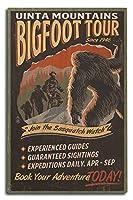 Uinta山、ユタ州–Bigfootツアー–Vintage Sign 10 x 15 Wood Sign LANT-53083-10x15W