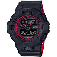 Casio G-Shock GA-700SE-1A4 Black on Red Two Tone Men's Digital Analog Sports Watch