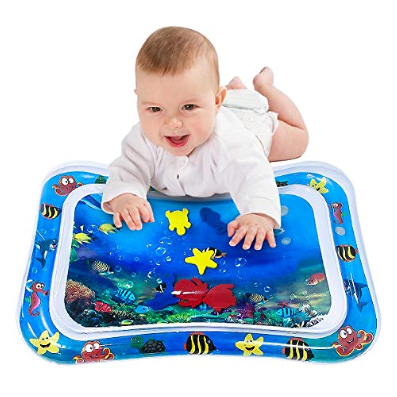 【2019夏の注目】Dreamparkベビー用ウォーターマット 赤ちゃんプレイマット ベビーアクティビティマット ひんやりマット 上に乗ると気持ちいい 赤ちゃんおもちゃ人気 水 空気注入式 触って遊ぶ 赤ちゃんの成長/知育の促進 暑さ対策 室内&室外用マット 出産祝い 誕生日 プレゼント
