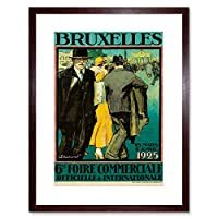 Ad Exhibition Trade Show International Brussels Belgium Framed Wall Art Print 展示会ショーベルギー壁