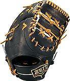 ZETT(ゼット) 硬式野球 プロステイタス ファーストミット ブラック×オークブラウン(1936) 右投げ用 日本製 BPROFM130