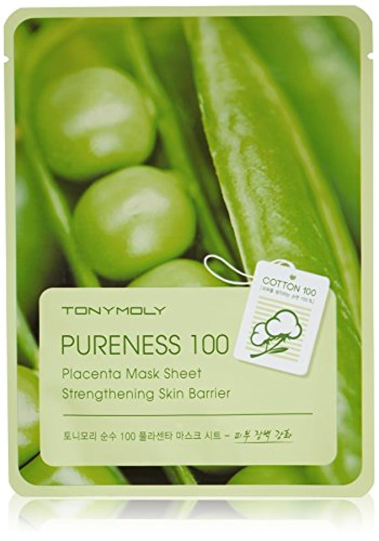 毎月ピンチマイクロプロセッサTONYMOLY Pureness 100 Placenta Mask Sheet Strengthening Skin Barrier (並行輸入品)