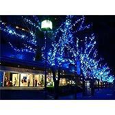 家や店舗の装飾に!! ソーラー LED 100灯 10m 選べる6色!! クリスマス イルミネーション (ブルー)