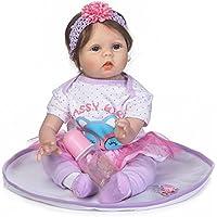 Decdeal 55cm リボーンベビー ドールガール PPシリコン 服付き かわいい ギフト おもちゃ