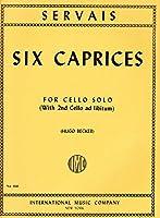 SERVAIS A.F. - Caprichos (6) Op.11 para Violoncello (Becker)