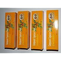 4× 25グラムチューブカプサイシンクリームホットクリーム 4 × 25g Tube capsaicin Cream Hot Pain Relief