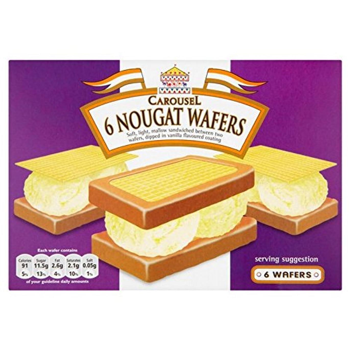 急いで理論的シネマCarousel Nougat Wafers 6 per pack - (Carousel) ヌガーウェーハ6パックあたり [並行輸入品]