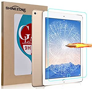 ShineZone Apple iPad Air 2 (2014) 専用強化ガラスフィルム 0.3mm 表面硬度9H 飛散防止処理 防指紋保護シール