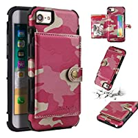 iPhone 7 iPhone 8 - Protective 優れた カバー Leather Case/Cover / Bumper/Skin / Cushion - Fashion Art Collection (Rosy)