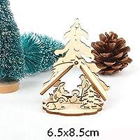 Christmas 2 ピース/ロット DIY クリエイティブ小さな中空クリスマス木製の装飾品のためのパーティーの装飾子供のギフト用品