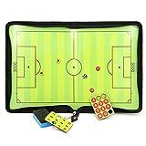 Sumnacon サッカー用のコーチボード 戦略計画 指導など サッカー 磁性作戦盤