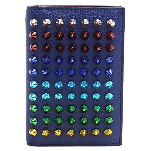 (クリスチャンルブタン)CHRISTIAN LOUBOUTIN カードケース 名刺入れ 2つ折り M SIFNOS CARD HOLDER EMPIRE カラフルスタッズ付き (アンコール×マルチメタル) 1175069 M686 [並行輸入品]