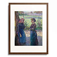 カミーユ・ピサロ Camille Pissarro 「The Conversation. About 1892」 額装アート作品