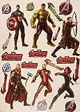 """Marvel Avengers Fatheadスーパーヒーローのセット6公式ビニール壁グラフィックス???ハルク、マイティ・ソー、キャプテンアメリカ、アイアンマン、ホークアイ、ブラックウィドウ、17?""""インチシート"""