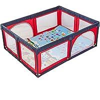 ベビーサークル ベビーベビーサークル子供の安全フェンス屋内キッズプレイヤードは、マットと庭ポータブル遊び場を再生します (色 : Red)