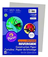 Riverside 3D Construction Paper Gray 9 x 12 50 Sheets [並行輸入品]