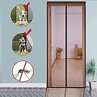 Velcro 磁気スクリーン ドア,ヘビーデューティ メッシュ カーテン 完全なフレーム 防蚊 新鮮な空気を入れなさい 高密度 防蚊ネット-A 120x220cm(47x87inch)