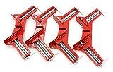 コーナー クランプ 木工用 溶接 固定 バイス 直角 DIY 4個 セット ※便利な ものさし付き