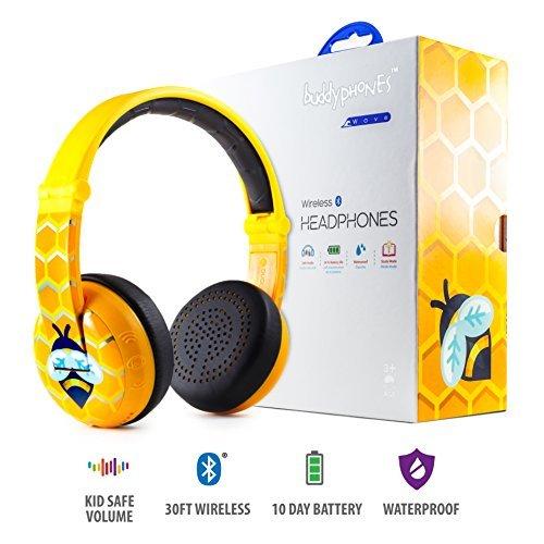 【国内正規品】Onanoff(オナノフ) BuddyPhones 子供の耳にやさしい音量制限構造 (ウェーブ,ビー) 749012