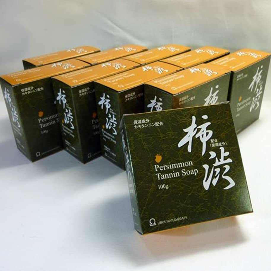 対応解釈的添付【加齢臭?体臭対策】 ライブラ柿渋石鹸 100g (10個セット)