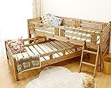 国産品で自然塗料 子供に優しい親子ベッド2段ベッド/二段ベッド(すのこベッド)