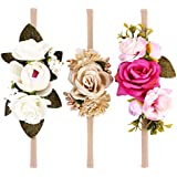 HOMYL 3pcs Colorful Flowers Kids Baby Headdress Toddler Headband Photography Props - C, as described