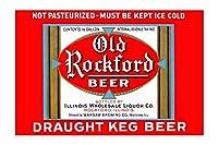 「古いロックフォードビール」印刷枠なし紙ポスターGiclee 20x 29)