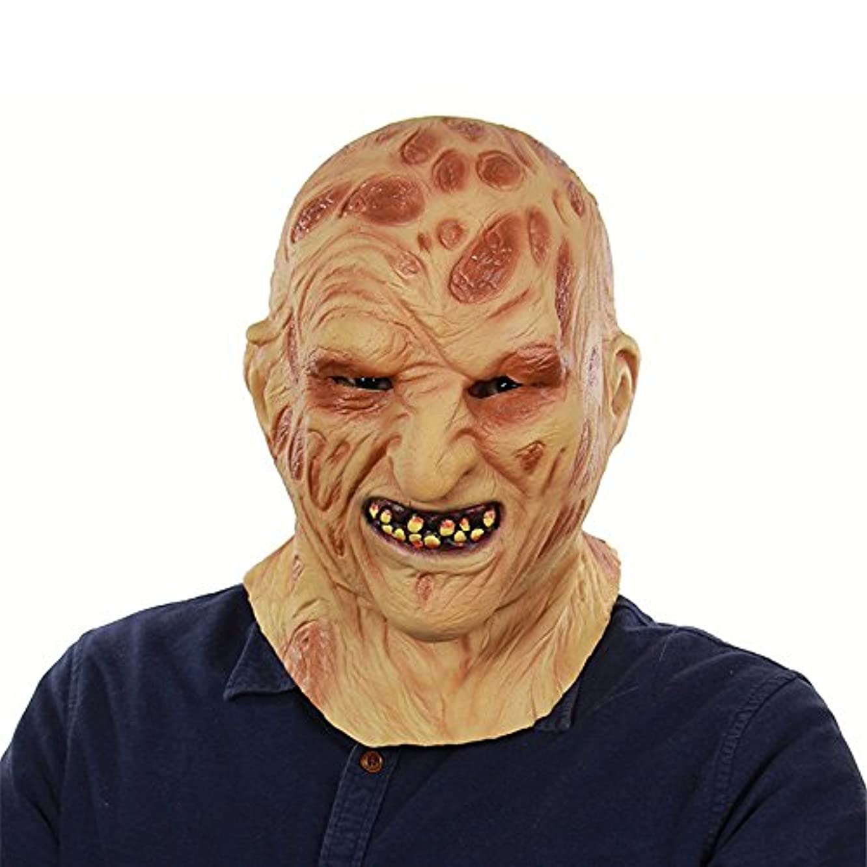 同種のシャーハウジングハロウィンゴーストフェスティバル対外貿易ラテックス火災燃える顔腐肉ヘッドカバーホラー腐った顔ゾンビゾンビフェイスマスク